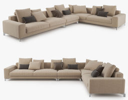 Busnelli Take it Easy Sectional Sofa 3D