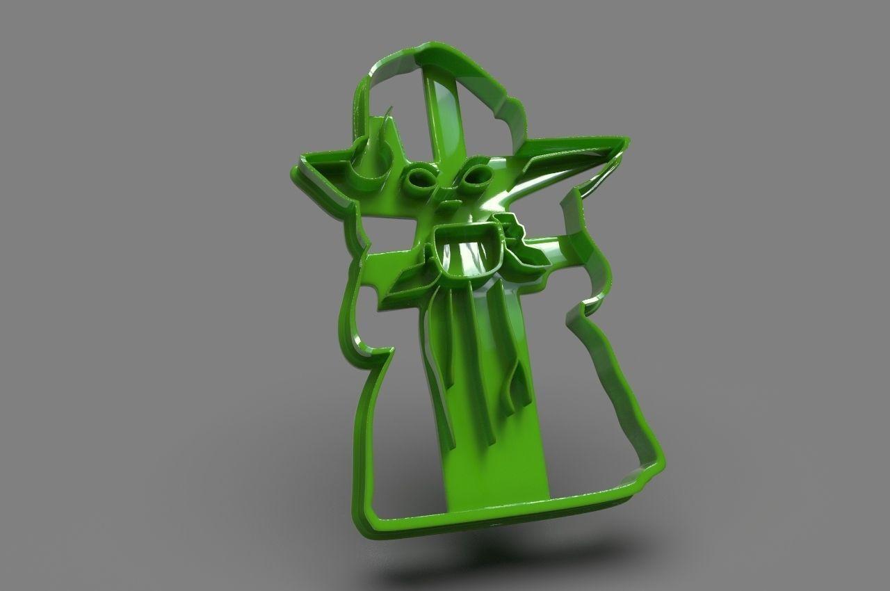 Baby Yoda Full Body cookie cutter X-Mas edition