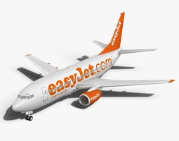 3D model easyJet Boeing 737-700 models