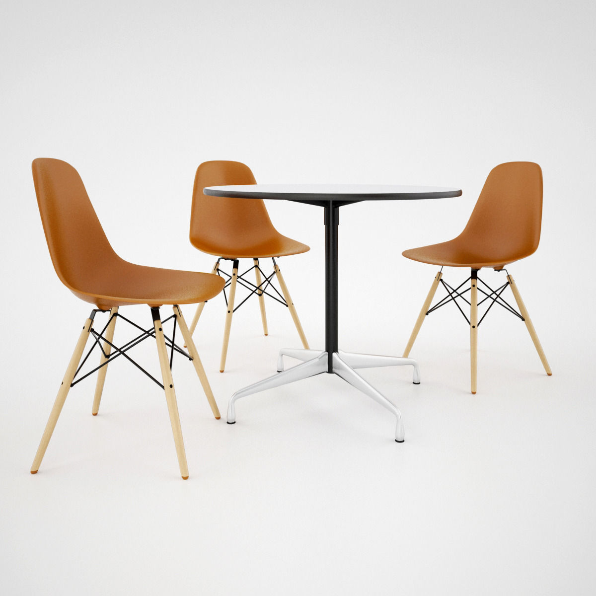 Vitra Dsw Chair And Eames Table 3d Model Max Obj Fbx Mat 3
