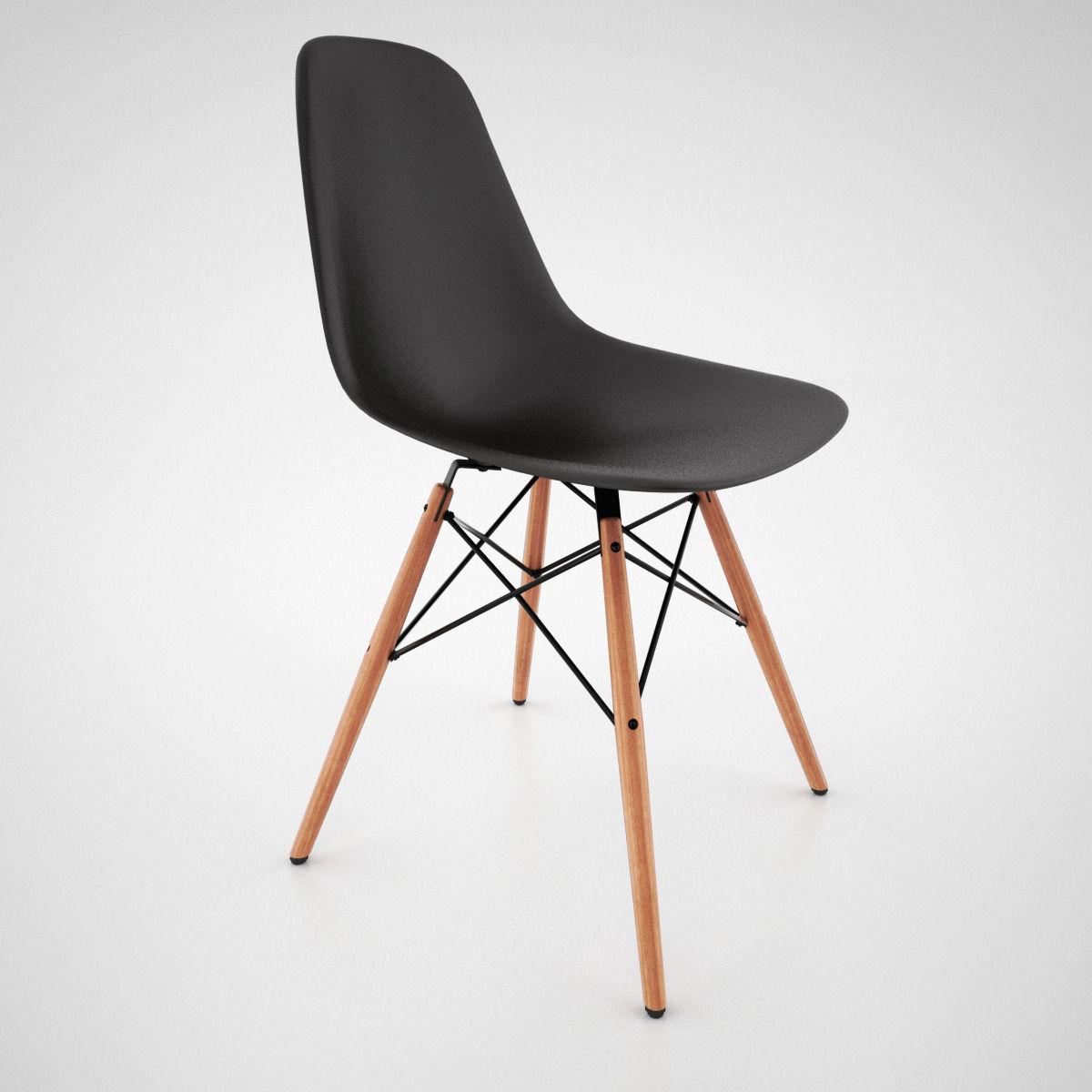 vitra dsw chair and eames table 3d model max obj fbx. Black Bedroom Furniture Sets. Home Design Ideas