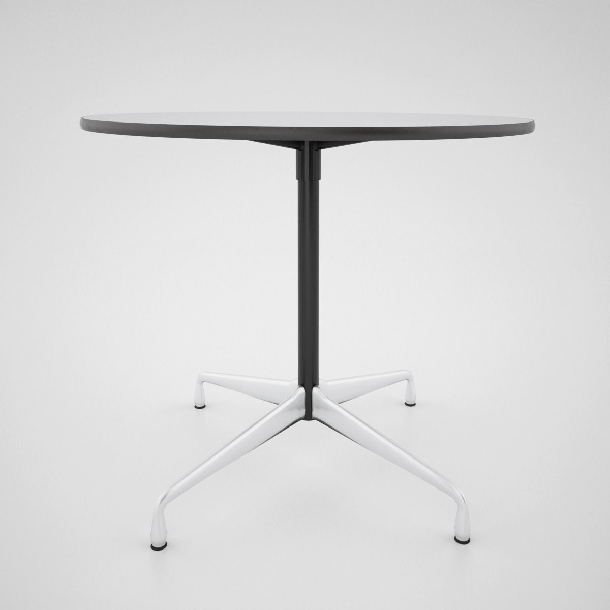 Vitra dsw chair and eames table 3d model max obj fbx for Table eames dsw