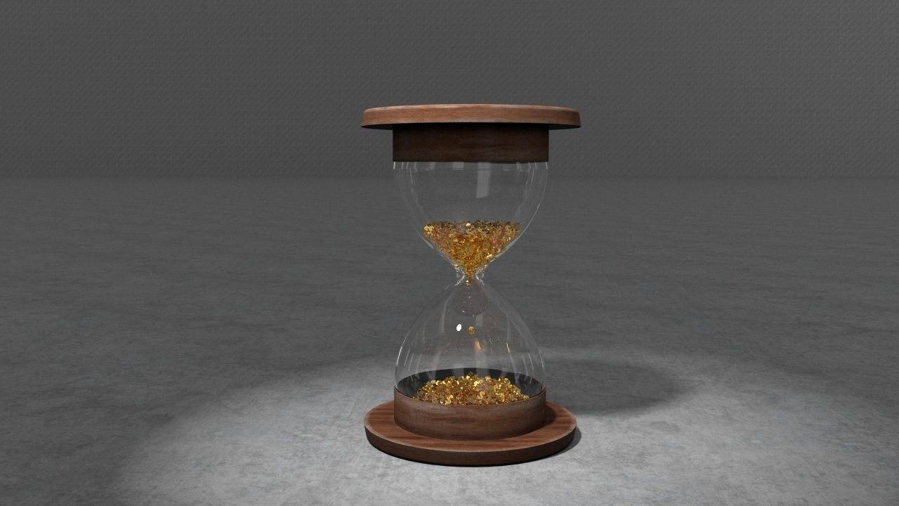 Animated 3D Hourglass