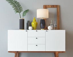 3D west elm modern buffet