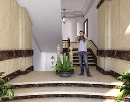 3D model VILLA Entrance