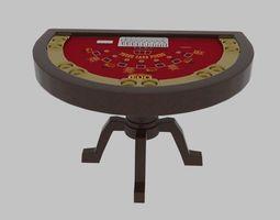 3D model Three Card Table