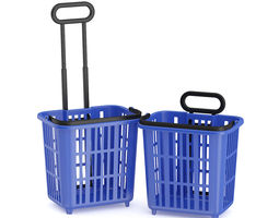 Two Shopping Baskets 3D Model