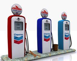 3D model Gas Pump Chevron