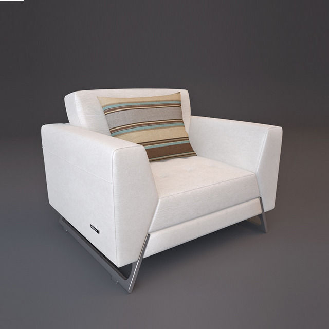 Roche bobois satelis canape sofa and armchair free 3d for Canape roche bobois