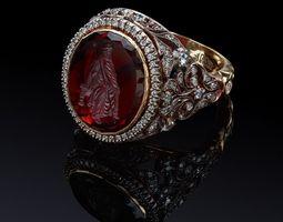 3D print model Garnet man ring