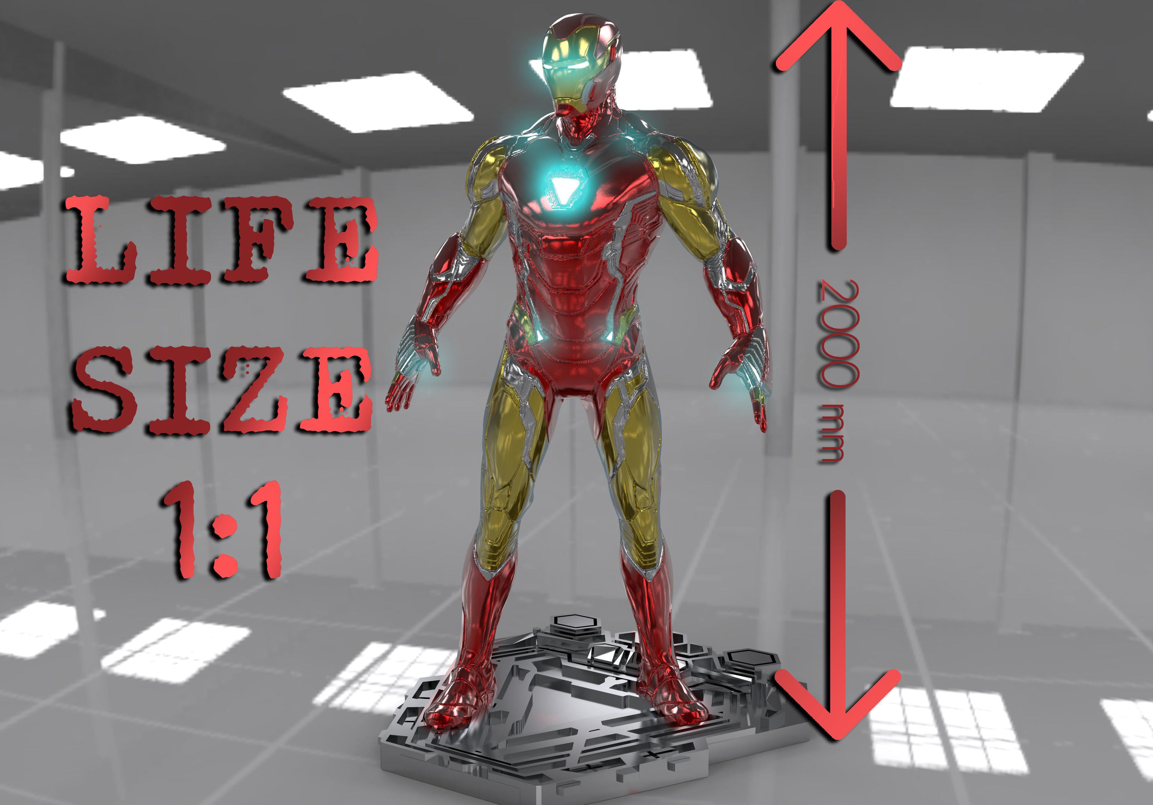 IRONMAN MARK 85 LIFE SIZE 3D MODEL