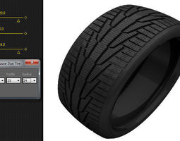 3d model scripted tire size changer
