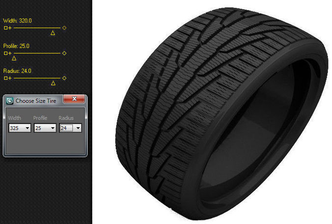 scripted tire size changer 3d model max 1