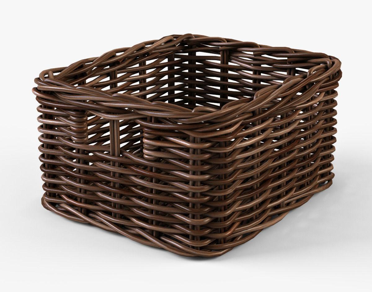 Wicker Basket 06 Brown