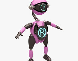 robot 005 rigged t pose 3d