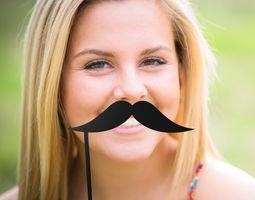 3D print model Mustache Mustache Stick
