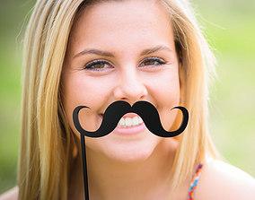 other Mustache Mustache Stick 3D printable model