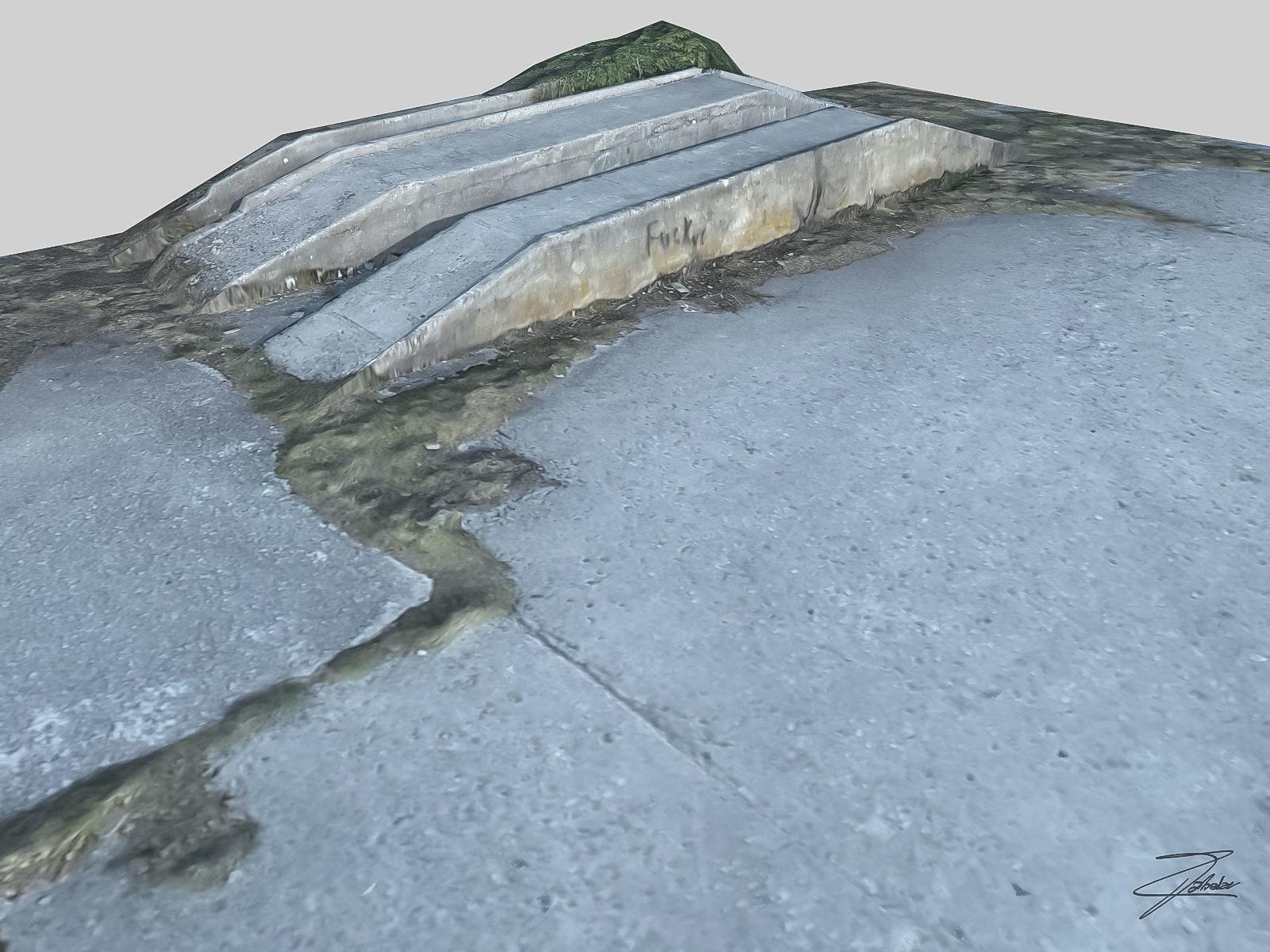 Concrete loading ramp