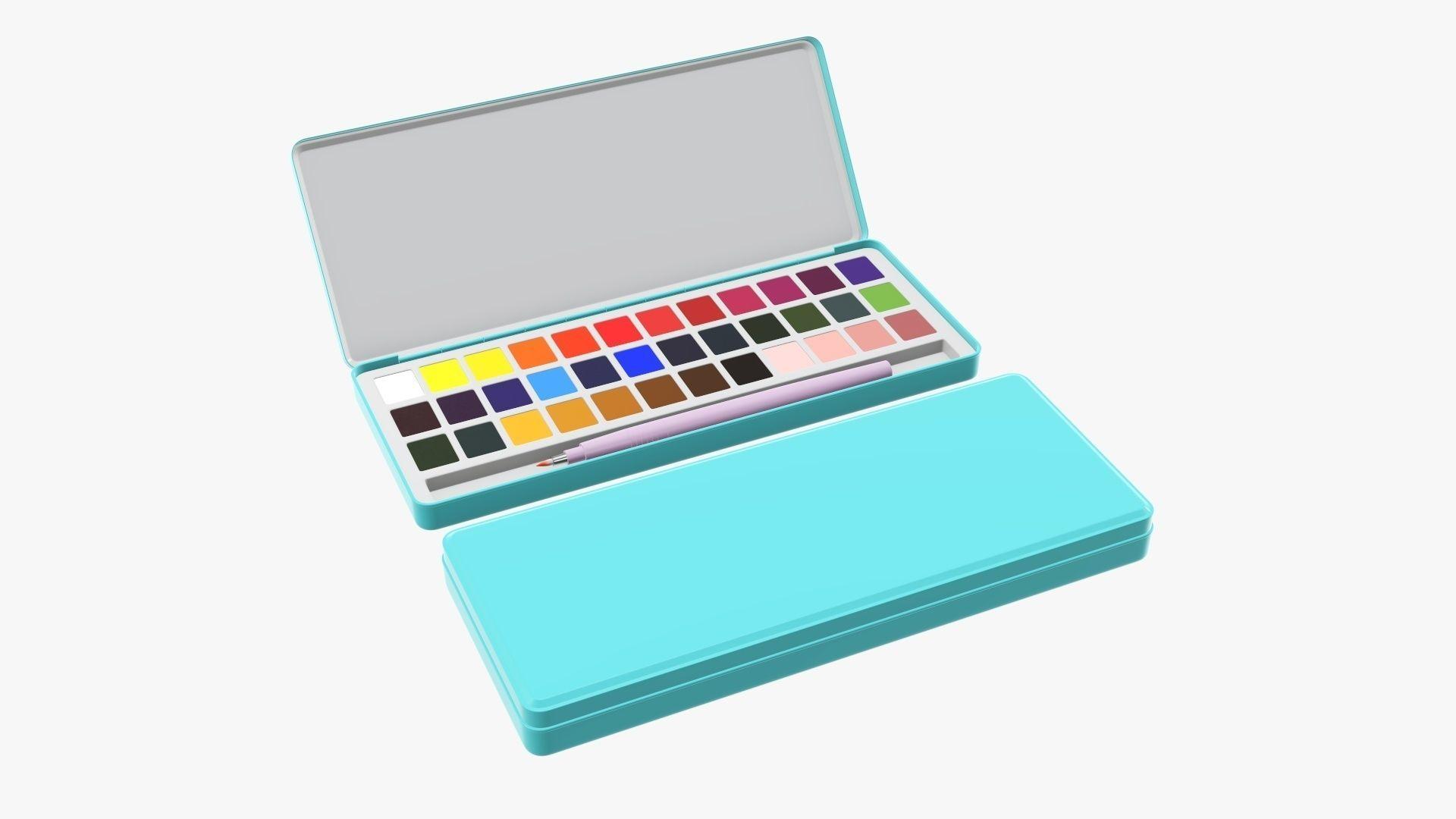 Paint set watercolor