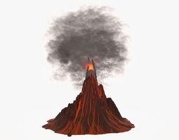 3d model volcano is active