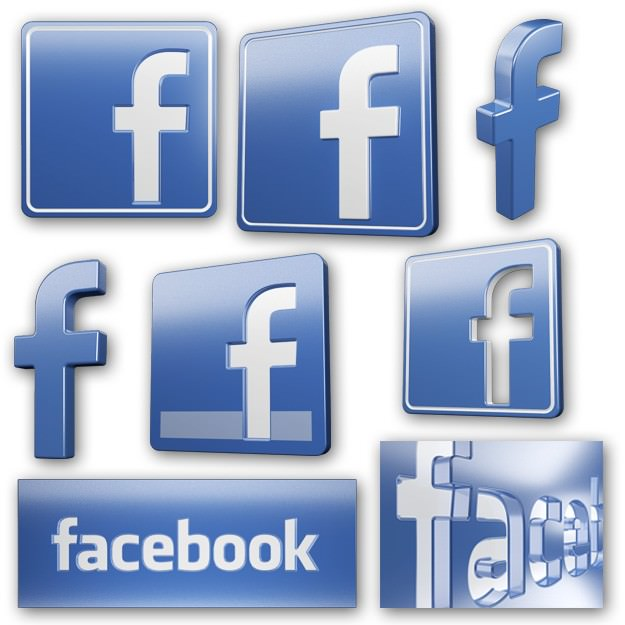 Facebook icons and logos 3D model | CGTrader