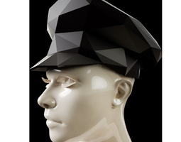 3D print model Low Poly Sergeant Hat