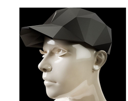 Low Poly Baseball Cap 3D printable model