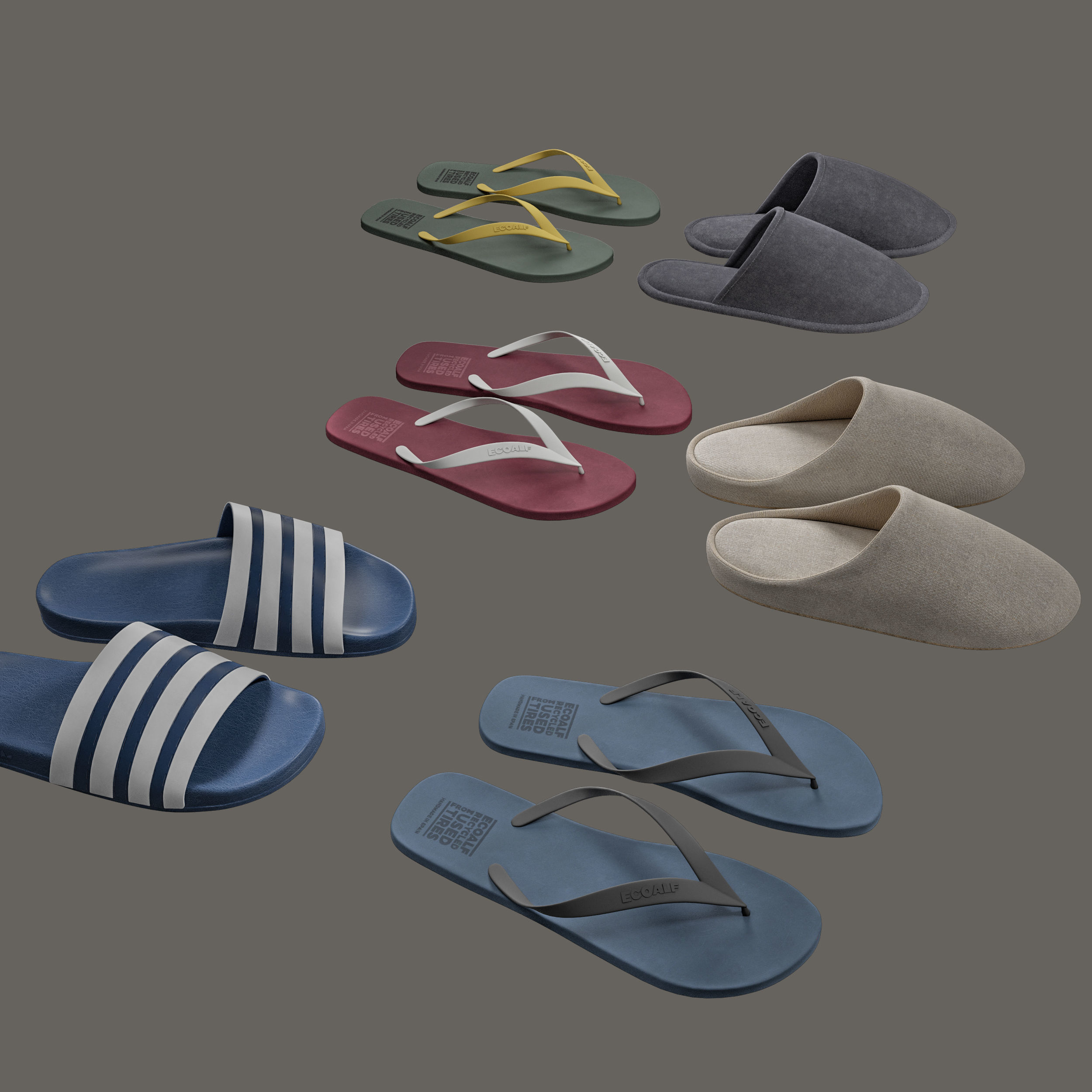 Slippers and Flip-Flops