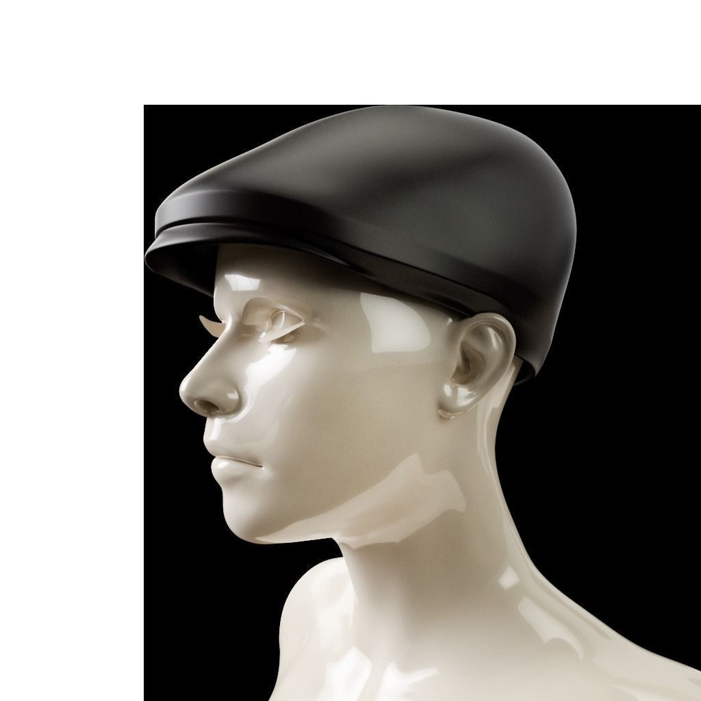 167c7d0e3a8 3D printable model Newsboy Hat