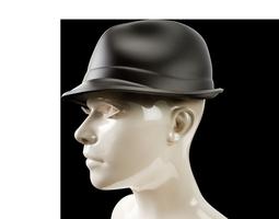 3d print model trilby hat