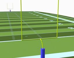 3D asset American Football Field
