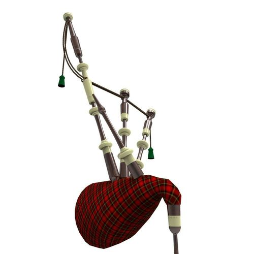 bagpipes 3d model fbx ma mb 1