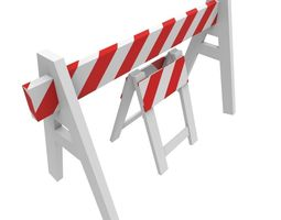 road barriers 3d asset game-ready