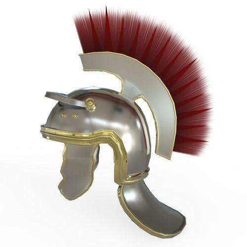 centurian helmet 3d model obj mtl fbx ma mb 1