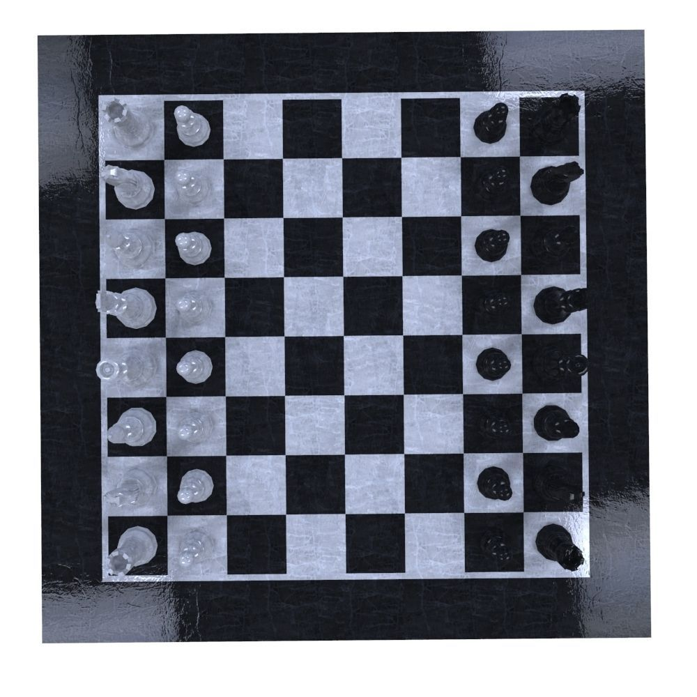 3d model realtime chess set cgtrader