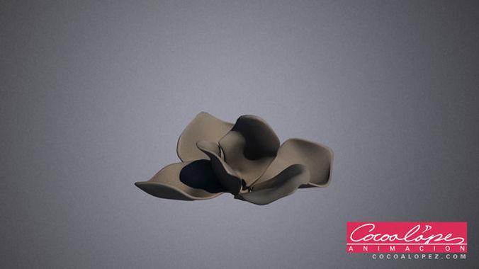 flower petals 3d model max obj mtl 1