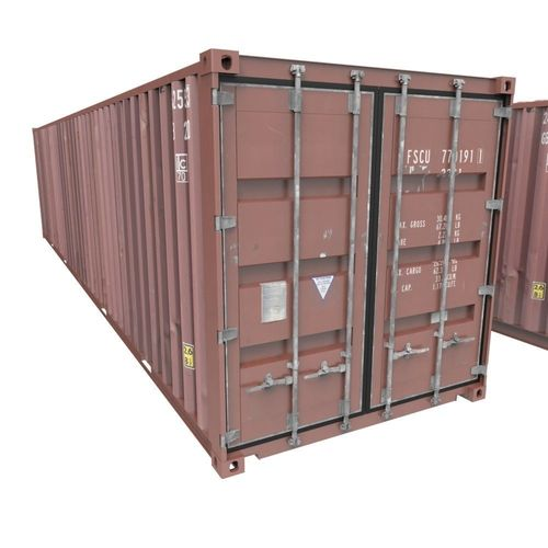 shipping container 3d model obj fbx ma mb 1