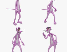 pink panther 4 animation 3d model animated