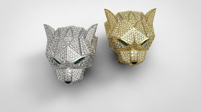 Cartier Diamond Panther Ring 3d Models・cgtrader
