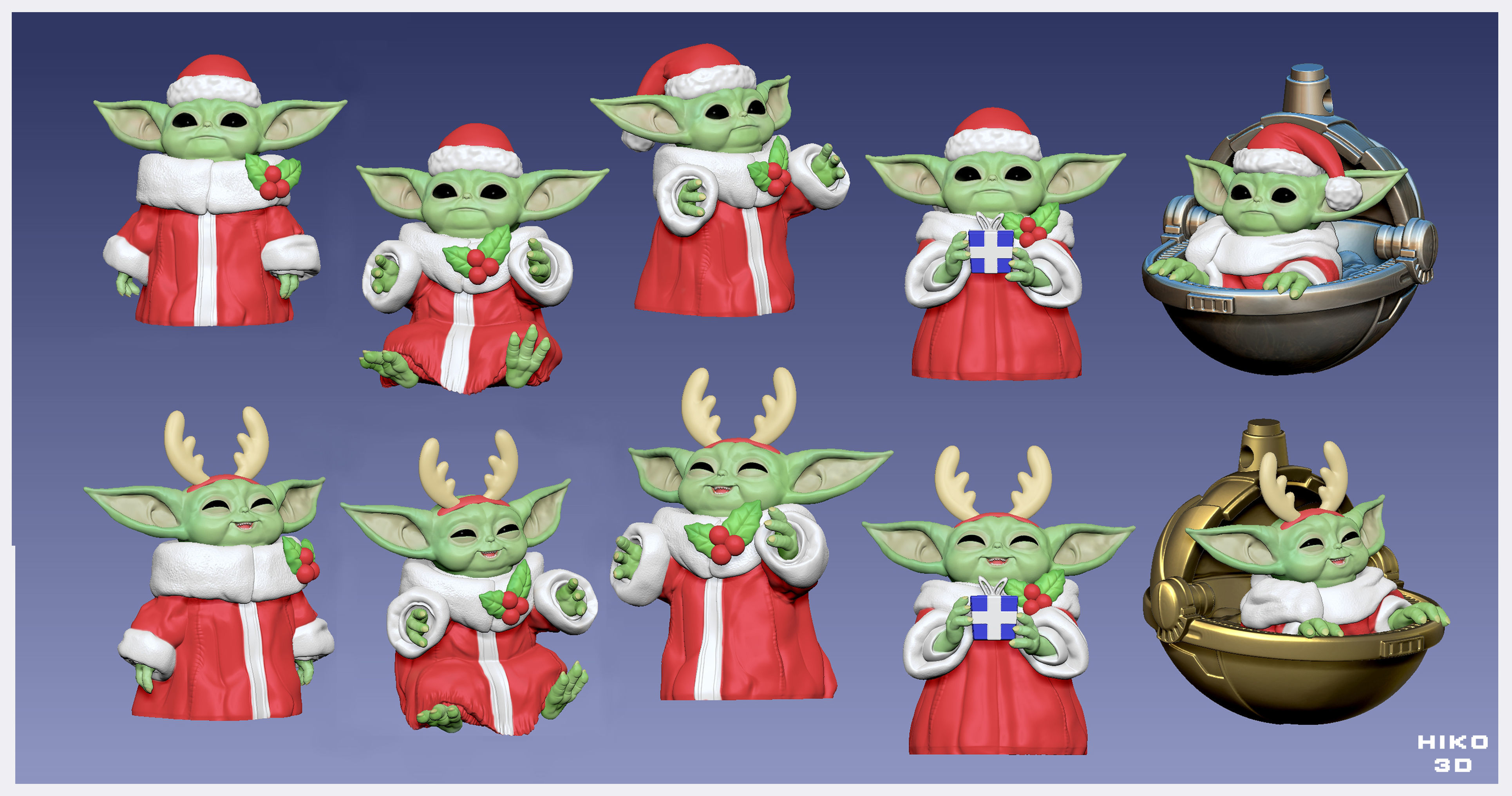 3d Print Model Baby Yoda Grogu Christmas Edition 2 Grogu (also known as baby yoda among fans and the media) is a character from the star wars disney+ original television series the mandalorian. baby yoda grogu christmas edition the mandalorian 3d print model