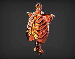 3D print model HUMAN RIB SHAPE PENDANT