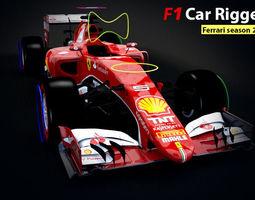 Formula 1 Car Rigged 3D Model