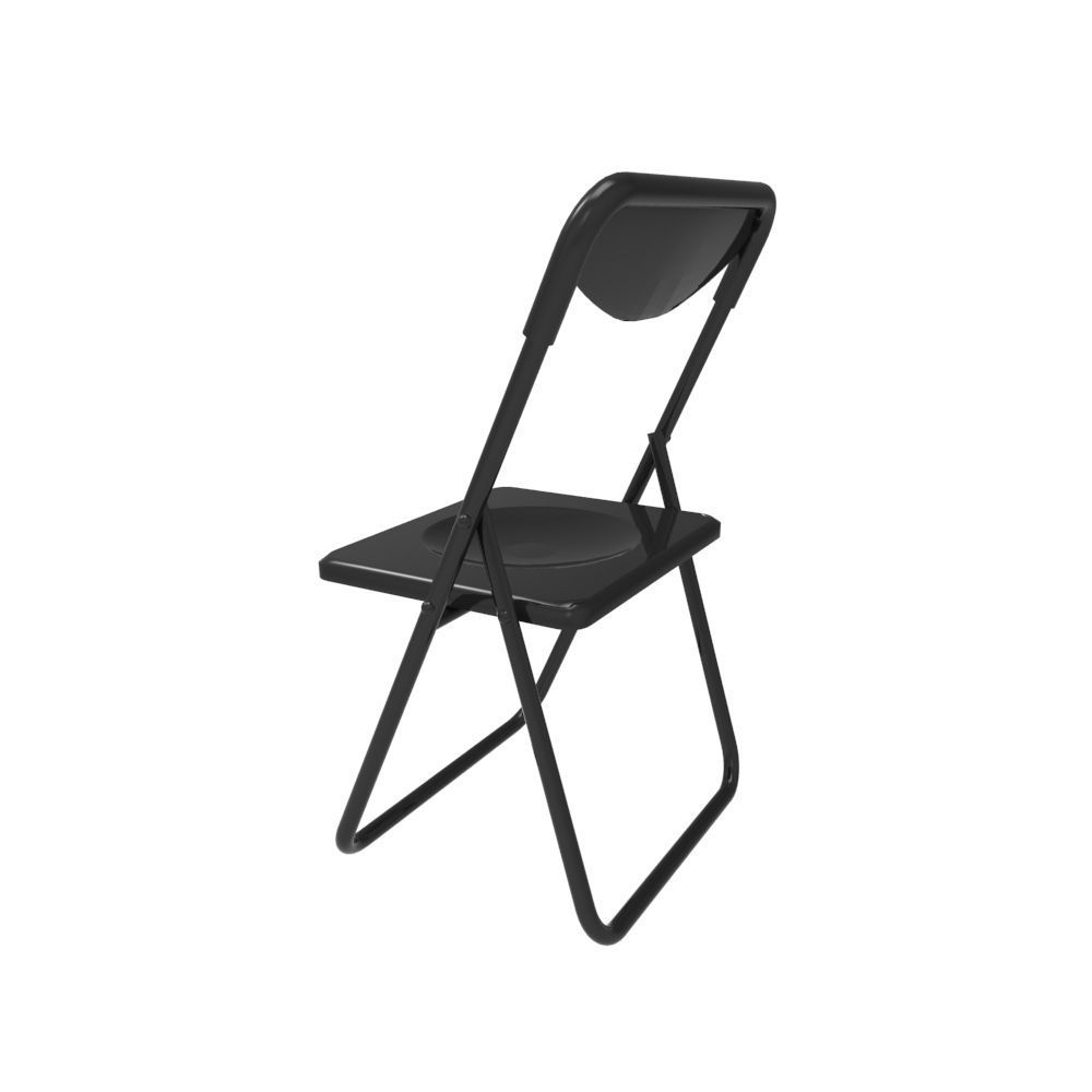 3D model fold up chair VR AR low poly FBX MA MB CGTrader