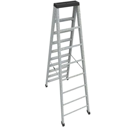 step ladder 3d model fbx ma mb 1
