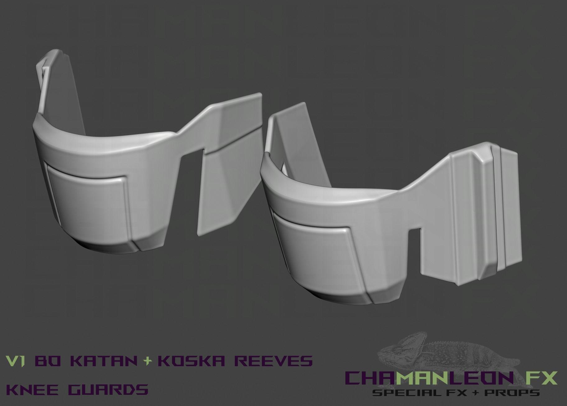 Bo Katan and Koska Reeves Cosplay Knee Guards The Mandalorian