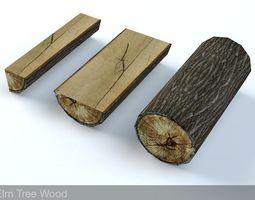 3D asset Elm Tree Fire Wood