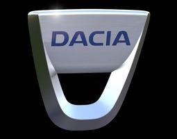 dacia emblem 3d