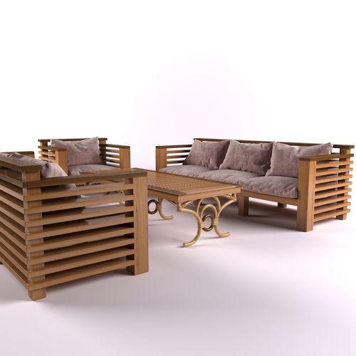 Garden Furniture 3d garden furniture 3d model rigged | cgtrader