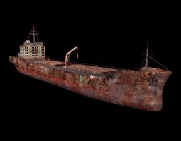 Marine cargo ship 3D asset