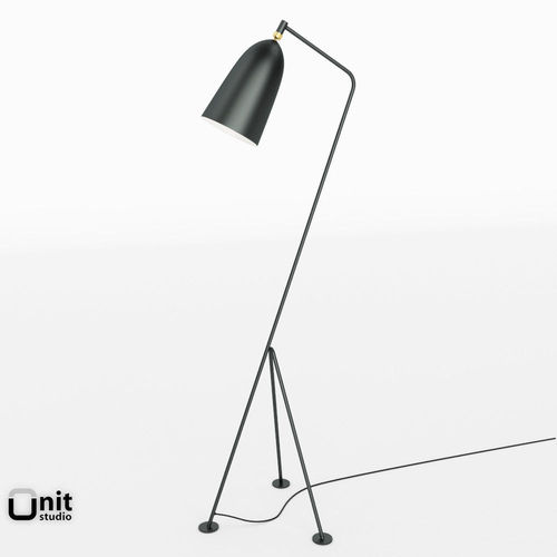 gubi grasshopper floor lamp 3d model max obj 3ds fbx dwg. Black Bedroom Furniture Sets. Home Design Ideas